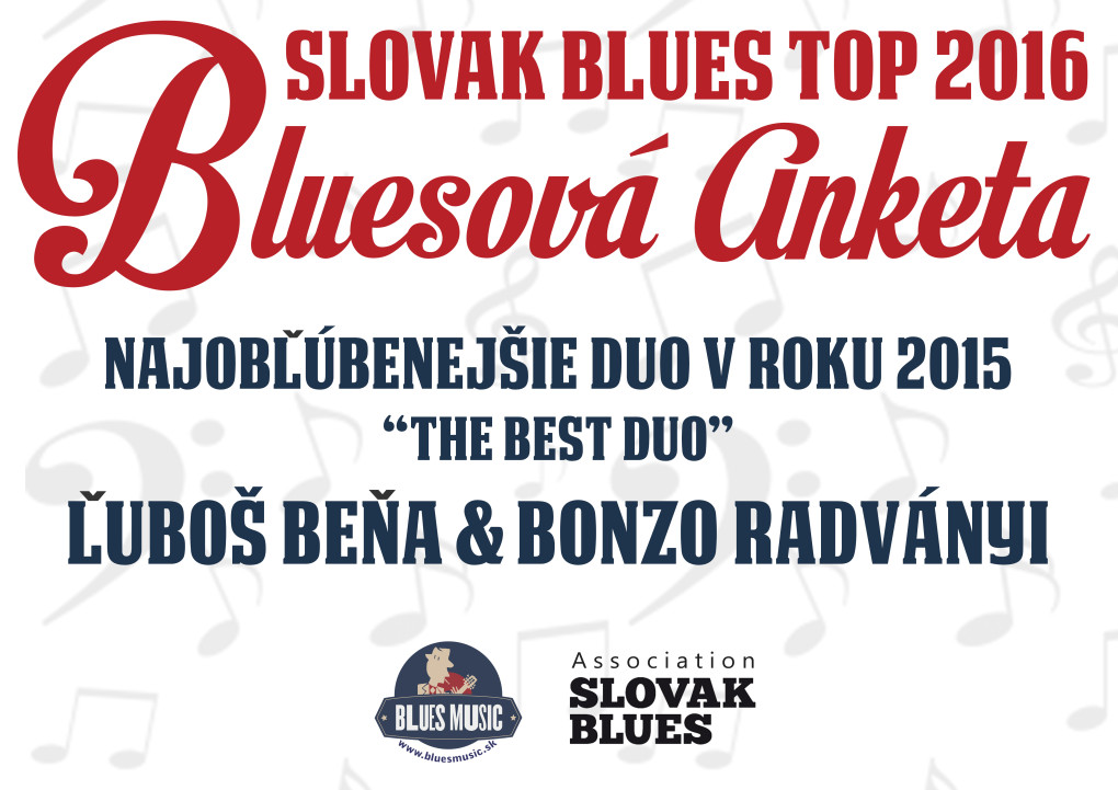 Ľboš Beňa a Bonzo Radványi Najlepšie bluesové duo na Slovensku