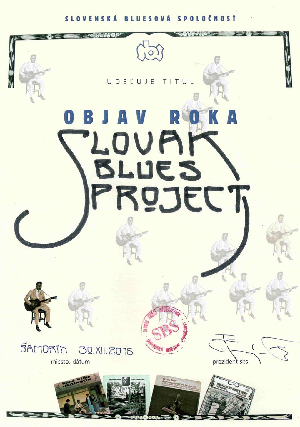 Slovak Blues Project získal cenu Objav roka 2016 na Slovensku
